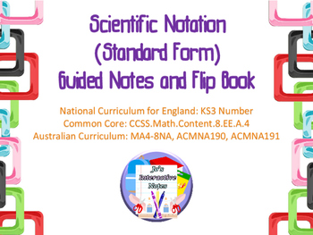 Scientific Notation (Standard Form) Guided Notes and Interactive Notebook Page