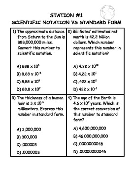 Scientific Notation Differentiated Stations