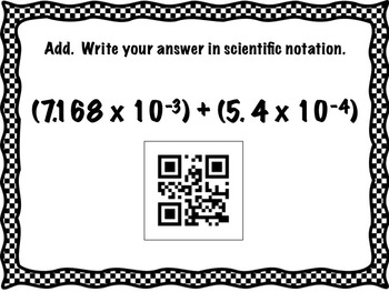 Scientific Notation Stations Activity with QR Codes