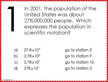 Scientific Notation Stations Maze Activity