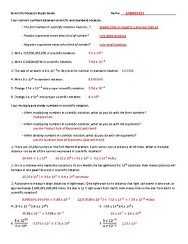 Scientific Notation Study Guide