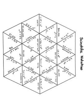 Scientific Notation-Tarsia Puzzle