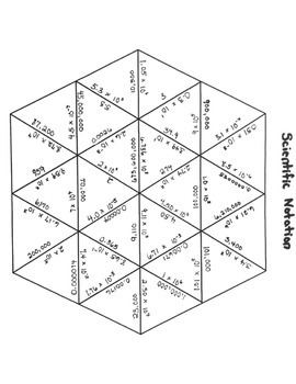 Scientific Notation-Tarsia Puzzle