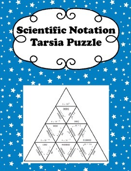 Scientific Notation Tarsia Puzzle
