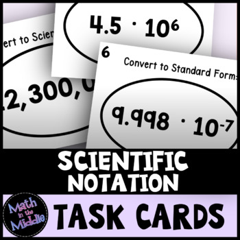 Scientific Notation Task Cards Activity
