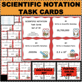 Scientific Notation Task Card Set of 30 Flashcard Review Practice Formative