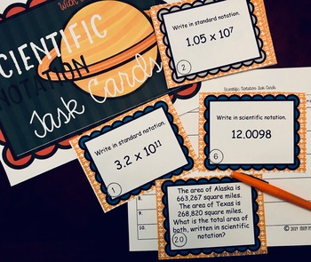 Scientific Notation {Task Cards}
