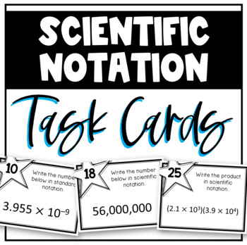 Scientific Notation (Task Cards)