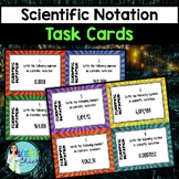 Scientific Notation Task Cards - with or without QR codes