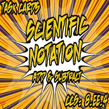 Scientific Notation Task Cards Bundle
