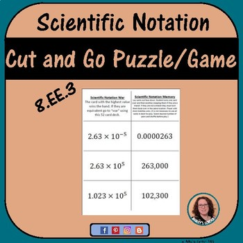 Scientific Notation War Memory Game