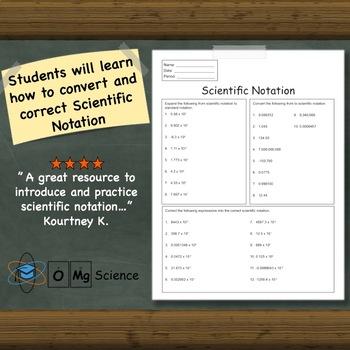 Scientific Notation Worksheet: The Basics