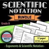Scientific Notation Worksheet Bundle