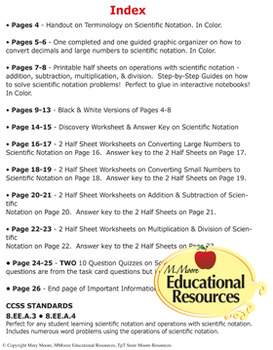 scientific notation worksheets guided notes printables quizzes. Black Bedroom Furniture Sets. Home Design Ideas