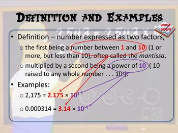 Scientific Notation (Writing Very Big or Very Small Numbers)