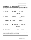 Scientific Notation Puzzle Decode Worksheet:  You be the Detective!