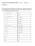 Scientific Notation and Siginificant Figures Task Cards An