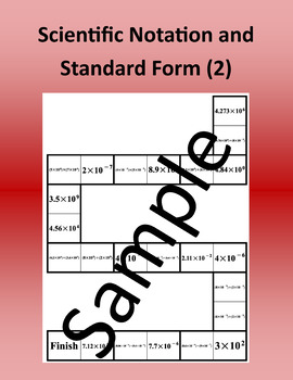 Scientific Notation and Standard Form (2) – Math puzzle