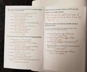 Writing Numbers in Scientific Notation (Foldables)