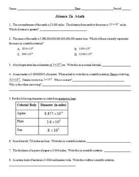 Scientific Notation in Math