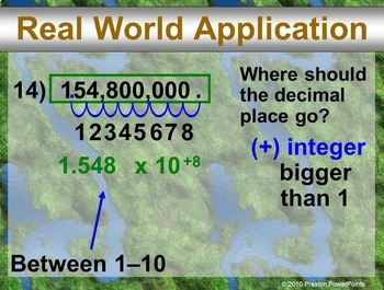 Scientific Notation in a PowerPoint Presentation