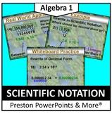 Scientific Notation in a PowerPoint Presentation