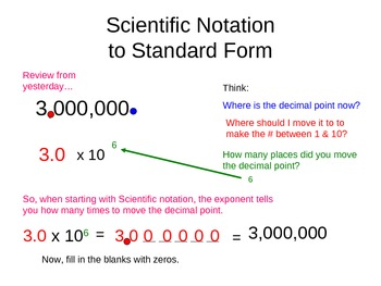 standard form notation  Writing Numbers In Scientific Notation And Standard Form ...