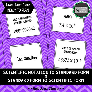 Scientific Notation To Standard Form And Vice Versa Hot Seat
