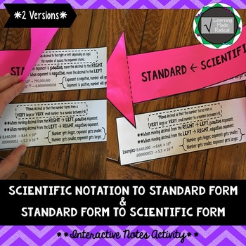 Scientific Notation To Standard Form And Vice Versa Interactive