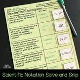 Scientific Notation with Negative Numbers Solve and Snip®