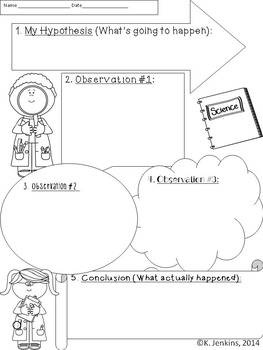 Scientific Observation Recording Sheet