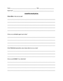 Scientific Observations Worksheet