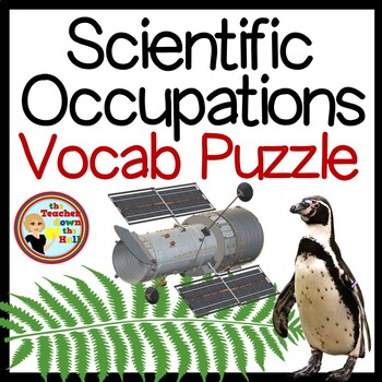 Scientific Occupations - Puzzle and Vocabulary