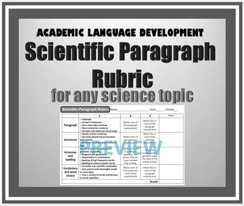Scientific Paragraph Rubric