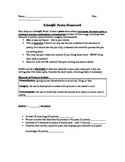 Scientific Poetry Assignment - Using Elements of Poetry + Science Concepts
