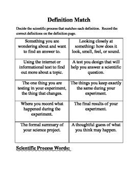 Scientific Process Definition Matching
