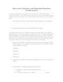 Scientific Process & Design a Lab Worksheet (lab procedures method)