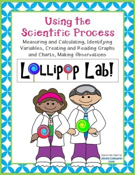 Scientific Process LOLLIPOP LAB Experiment-Measure, Graph, Data Chart, 100th Day