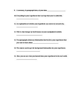 Scientific Process Quiz (3rd - 5th grade)