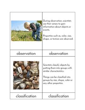 Scientific Process Skills - Three Part Cards