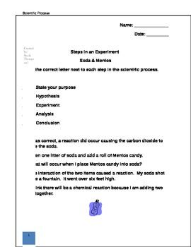Scientific Process: Soda & Mentos