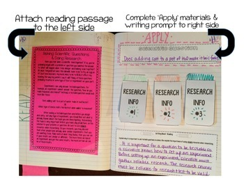 Scientific Questions and Research Reading Comprehension Interaction Notebook