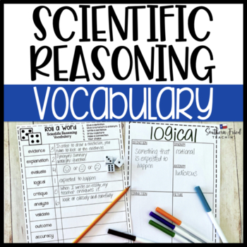 Scientific Reasoning Fun Interactive Vocabulary Dice Activity