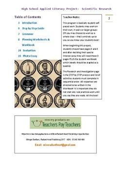 Scientific Research High School Literacy Project