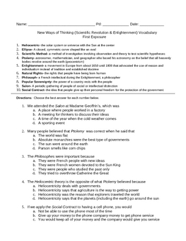 Scientific Rev & Englightenment Bundle (Vocabulary Strategies)