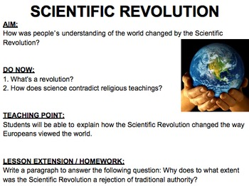 Scientific Revolution: Lesson Plan, Handouts, PowerPoint