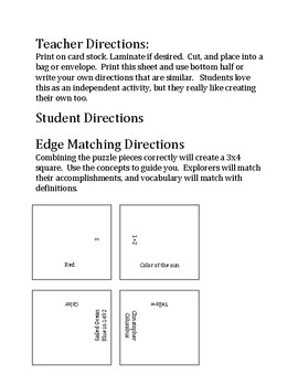 Scientific Revolution - Edge Matching Activity