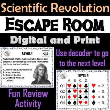 Scientific Revolution: Escape Room - Social Studies (The Age of Enlightenment)