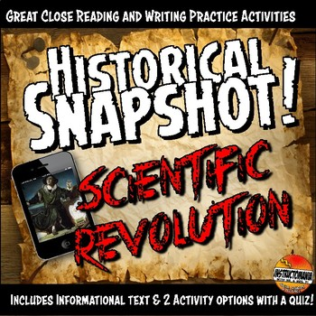 Scientific Revolution Historical Snapshot Close Reading Investigation