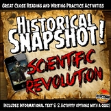 Scientific Revolution Historical Snapshot Close Reading In